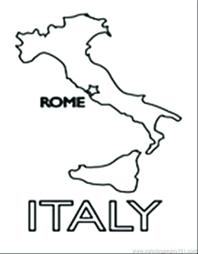 Delightful Italy Coloring Pages Kids Epic For Print With Map Pa