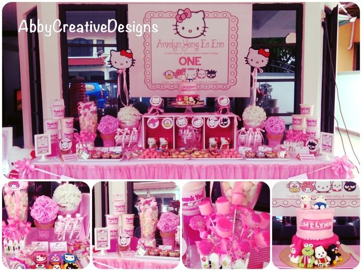 Hello Kitty Party Ideas | Hello Kitty Birthday Theme Happy Idea Pictures