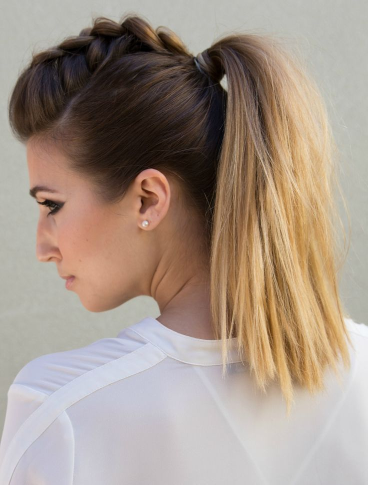 Dutch braid, pancake, ponytail—and done! Get the tutorial from Confessions of a Hairstylist. - Redbook.com