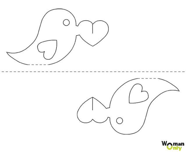 Объемные открытки из бумаги своими руками схемы шаблоны для детей, надписями тебя люблю