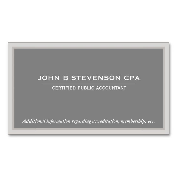 15 best accounting business cards templates images on for Cpa business card examples