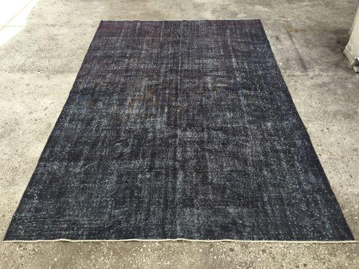 Dark Vintage TURKISH ANATOLIAN Overdyed Oushak Carpet RUG 10'  x 6'6 by EclecticRug on Etsy