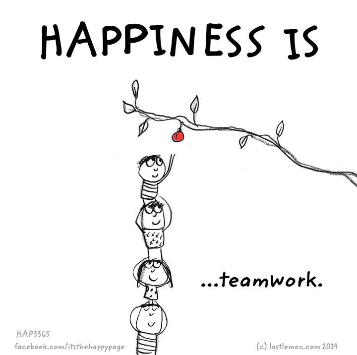 Happiness is.. teamwork