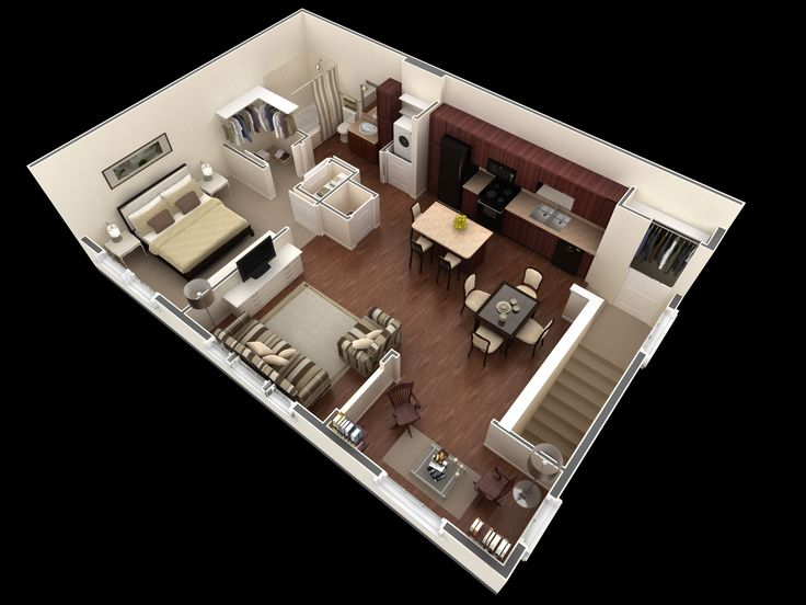 508 Best Images About Homes Floor Plan In 3d On Pinterest House Plans Apartment Floor Plans