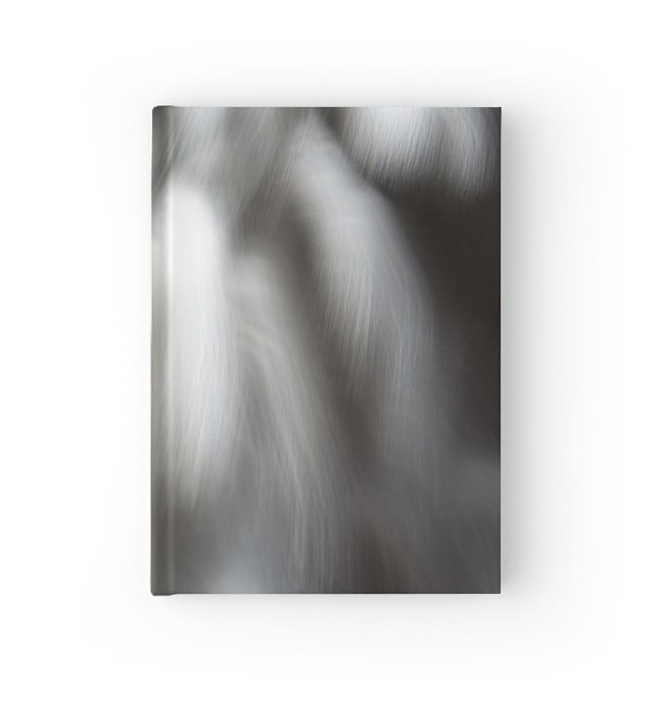 Black and White Abstract Waterfall hardcover journal by Galerie 503