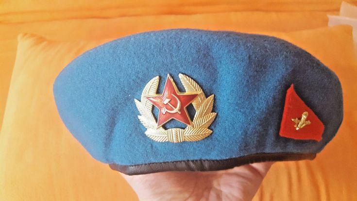 VDV Paratrooper Soviet 1991 Russian Original Hat Cap Beret USSR + BONUS CHEVRON