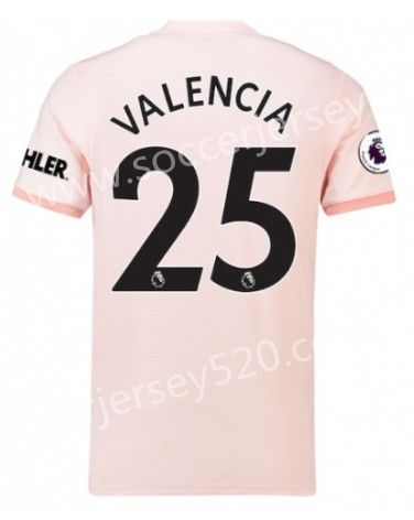 76f237489 2018-19 Manchester United Away Pink  25 (VALENCIA) Thailand Soccer Jersey  AAA