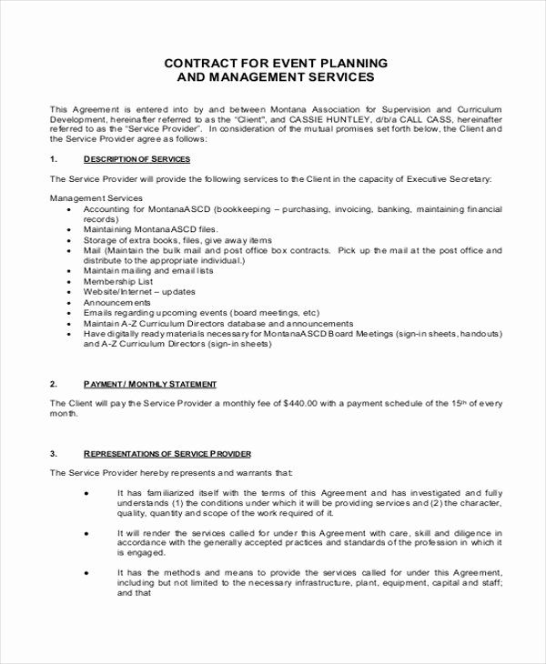 Event Planning Contract Template Free Lovely 14 Event Planner Contract Samples Event Planning Contract Contract Template Event Planning Quotes