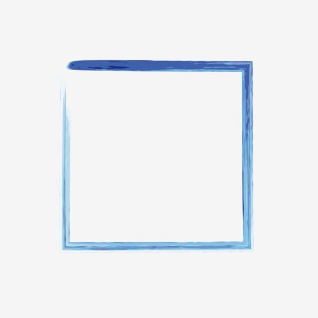 Ink Blue Border Decorative Pattern Ink Blue Frame Png Transparent Image And Clipart For Free Download In 2020 Blue Ink Clip Art Blue Flowers Background