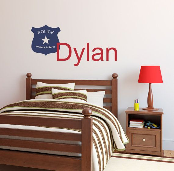 Police Personalized Name Wall Decal   Custom Wall Quotes   Custom Officer  Wall Decor   Fireman