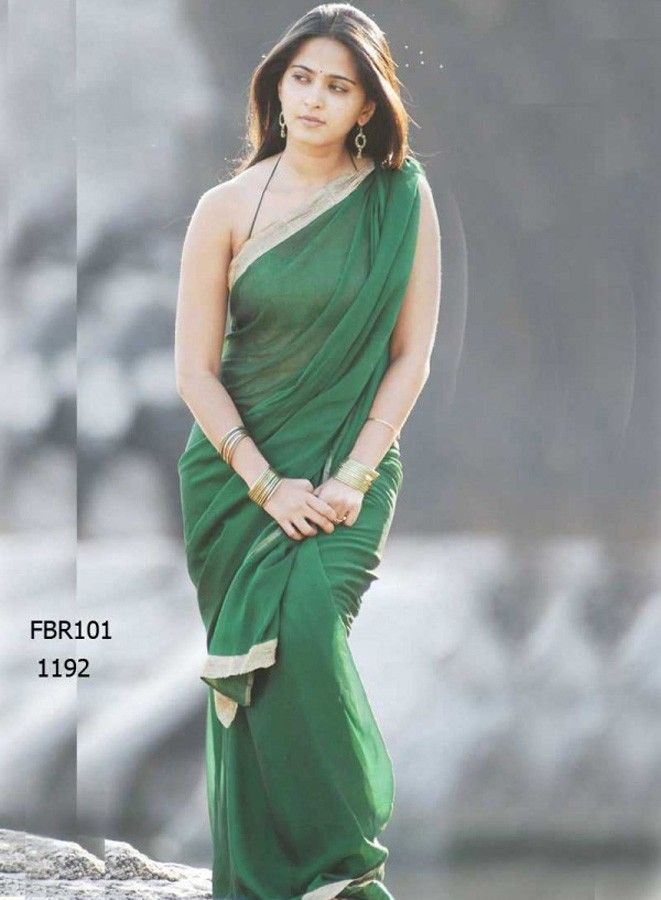 Fabboom South Actress Anushka Shetty In Green #Saree at Rs. 991.00