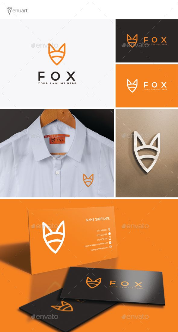 Fox Logo. Download: https://graphicriver.net/item/fox-logo/14156221?s_rank=16?ref=thanhdesign