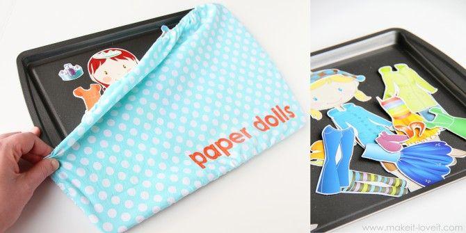 DIY magnetic paper dolls