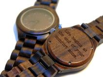 Holz Uhr / Armbanduhr - graviert mit Wunsch