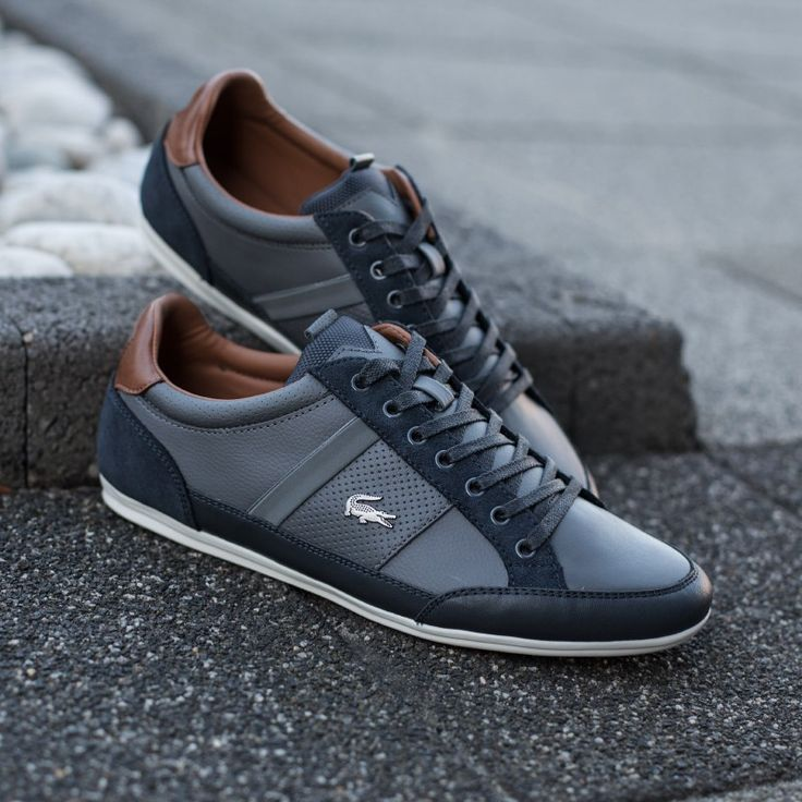 LACOSTE CHAYMON PRM2 Recently picked these up in charcoal & gray.  #slowlymovin^