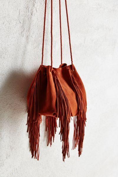 Ecote Fringe Bucket Bag - Urban Outfitters