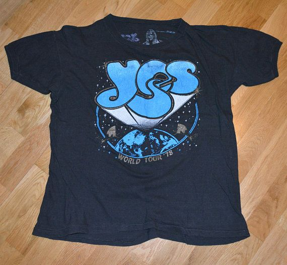 1978 Yes Vintage Concert Tour Rare Original Rock Band T Shirt Etsy Vintage Tee Shirts Band Tshirts Shirts