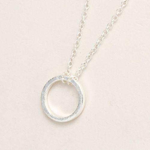 marymoon-Kreis-Halskette-034-Circle-034-silber-Kette