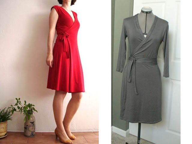 patron couture robe portefeuille. Black Bedroom Furniture Sets. Home Design Ideas