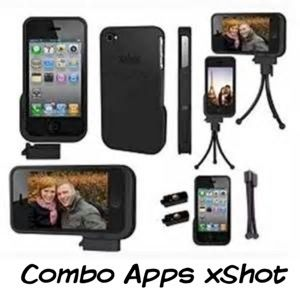 Combo Apps/xShot iPhone 4 and 4S Case with Mini Triod