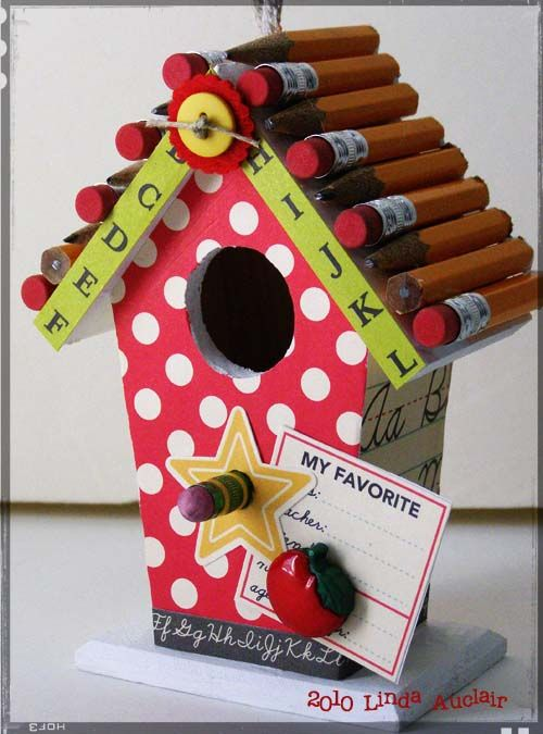 Report card birdhouse