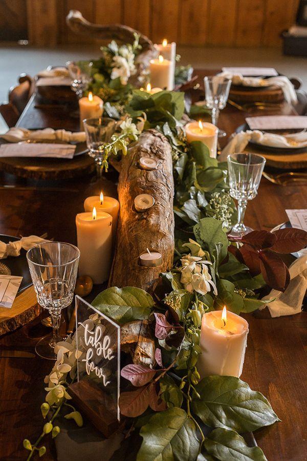 Colorful Rustic Autumn Wedding Inspiration Wedding Table