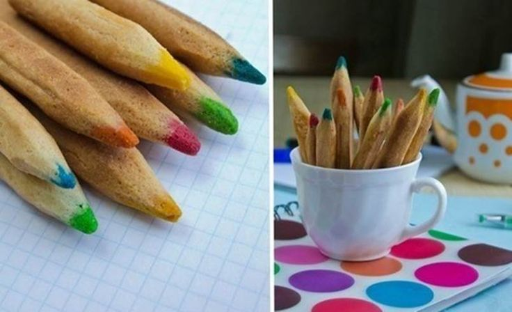 How creative and adorable are these edible colored pencil cookies! They look like real colored pencils, don't they? They are great snacks for kids' party and add a colorful, fun and interesting accent to your party table! You can use your favorite cookie recipe to make them. It's just the …