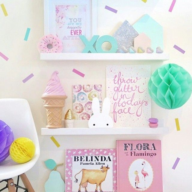 DECALS / Now that it's finally the weekend it's the perfect time to do some DIY. We've just had a delivery of these beautiful sprinkle decals and they're super easy to install, promise! This sweet room is by the Mumma behind @littlewillemsens Pop down and see us in store today 9 - 2. Happy weekend ✌ Regram @littlewillemsens #nursery #pink #bedroominspo #girlsroom #decals #interiorinspo #myhandsomelittleinteriors
