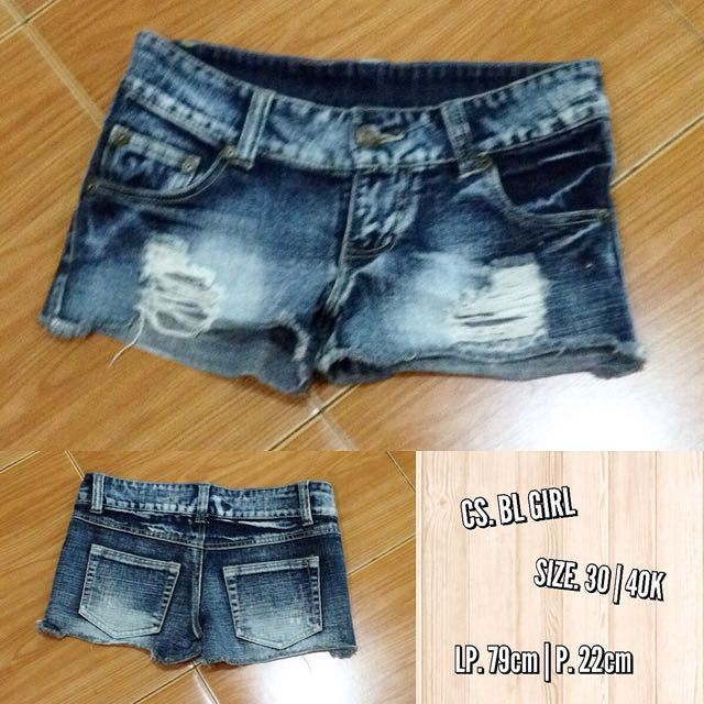 Hotpant Ripped Girl on Carousell
