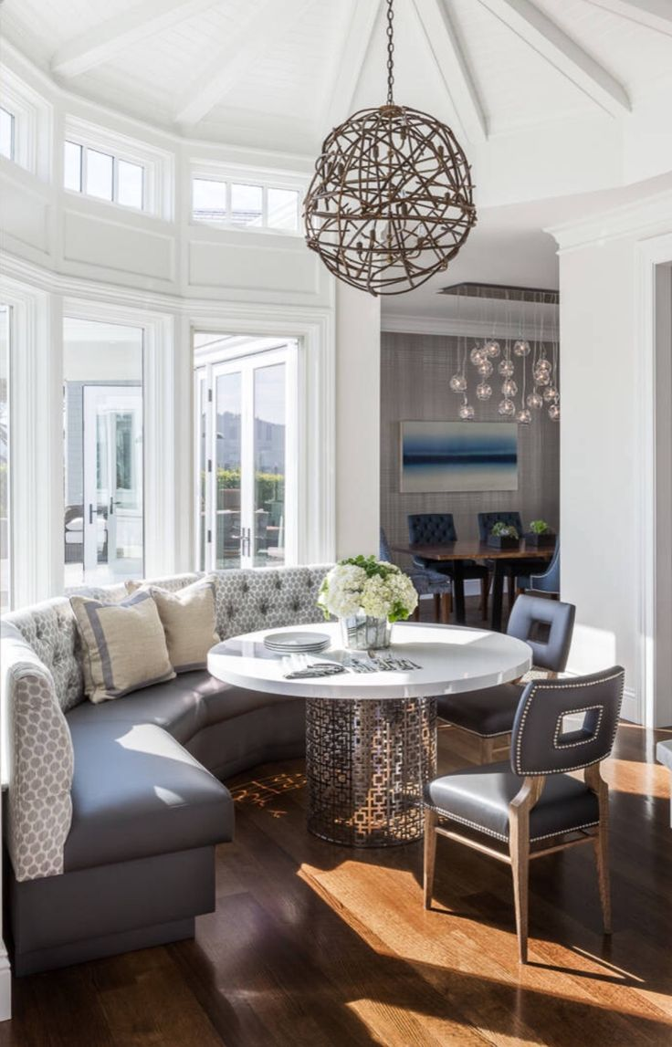 Beautiful Breakfast Room Built In Banquette Seating Dining Room