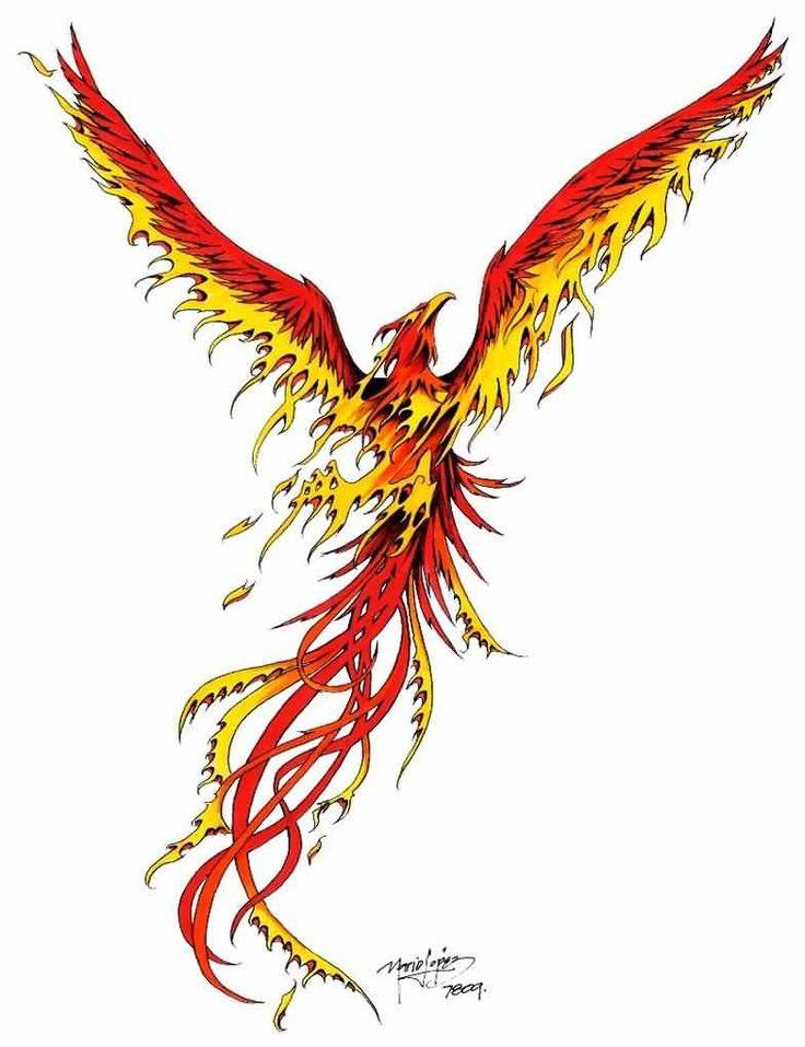 Rising Phoenix Tattoo Design