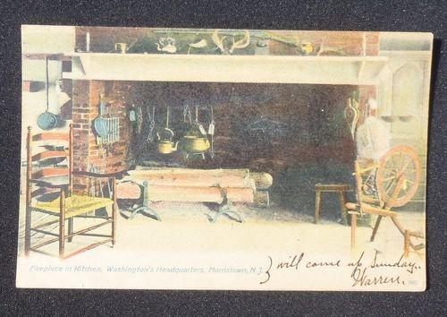 1900s Fireplace in Kitchen Washington's Headquarters Morristown NJ Morris Co PC | eBay