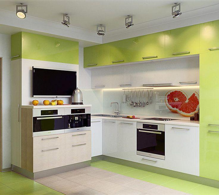 Важную роль в проектировании нижних шкафов для кухни играет газовая или электрическая плита.   Если кухня малогабаритная, то желательно выбирать шкаф, глубина которого не больше, чем 50 см.   Даже если она будет немного выступать вперед из-за тумбы – ничего страшного, интерьер не будет испорчен.