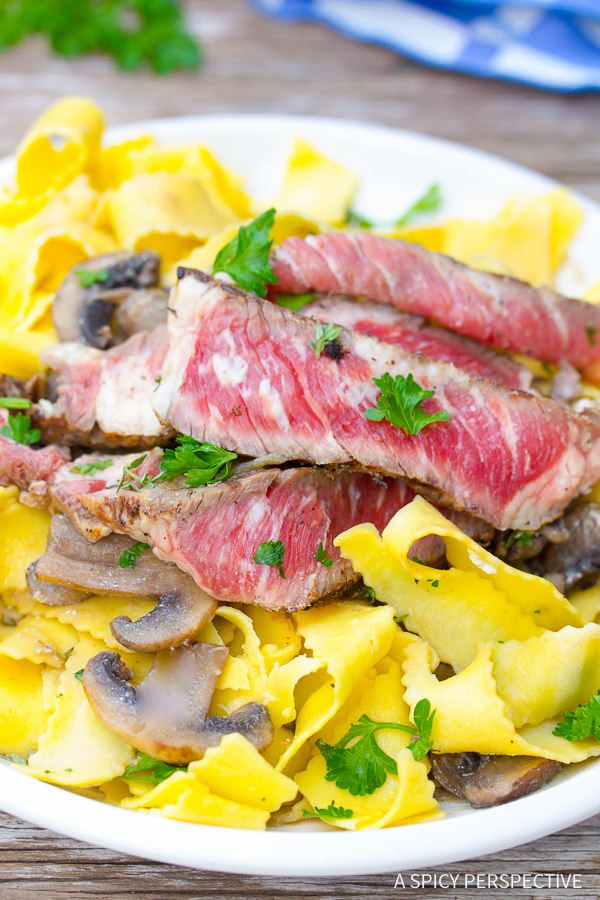 Must-Make Easy Beef Stroganoff Recipe with Butter Noodles on ASpicyPerspective