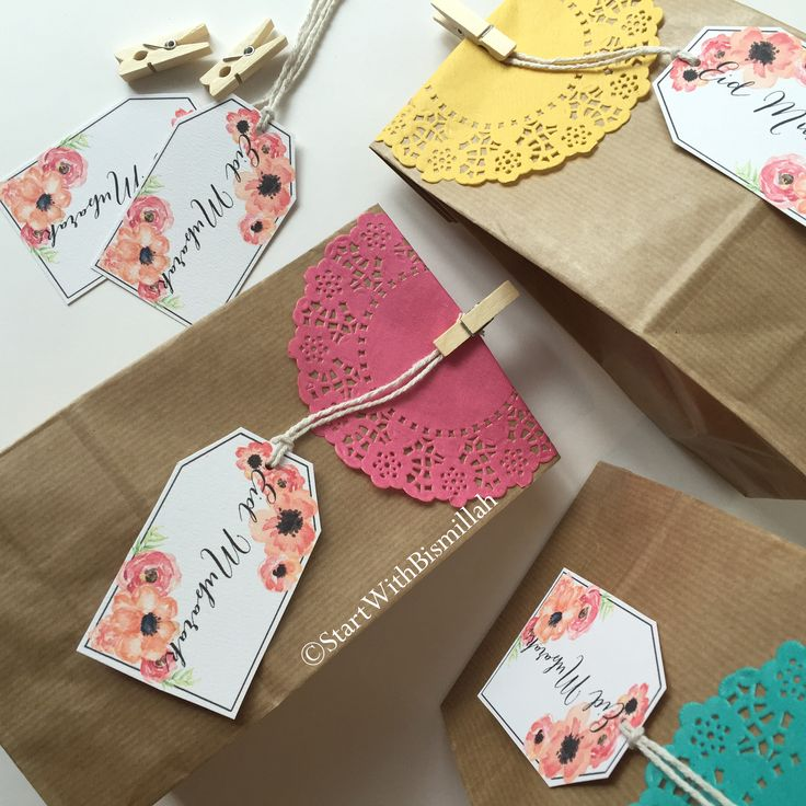 The 25 best eid gift bags ideas on pinterest eid favours eid eid gift bags pack of 5 negle Choice Image