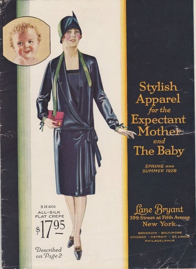 Lane Bryant maternity wear catalog, 1928