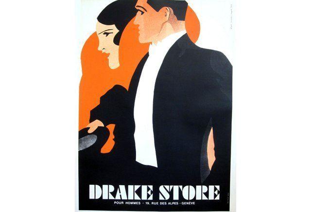 Drake Store Fashion Poster, C. 1970
