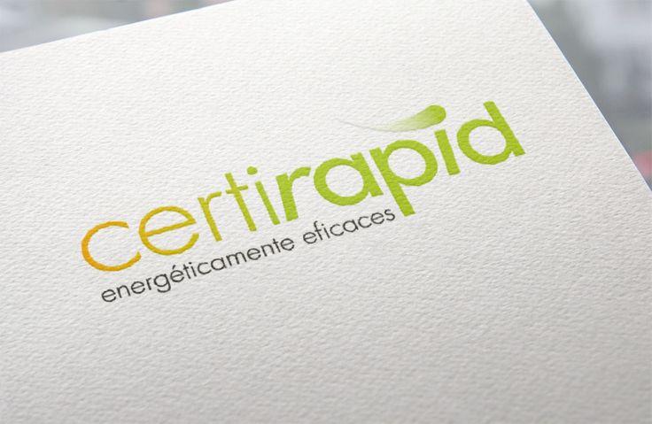 En las tarjetas de Certirapid se ve un logo completo y que consigue sus objetivos.