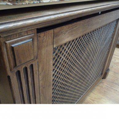 Деревянный экран для радиатора