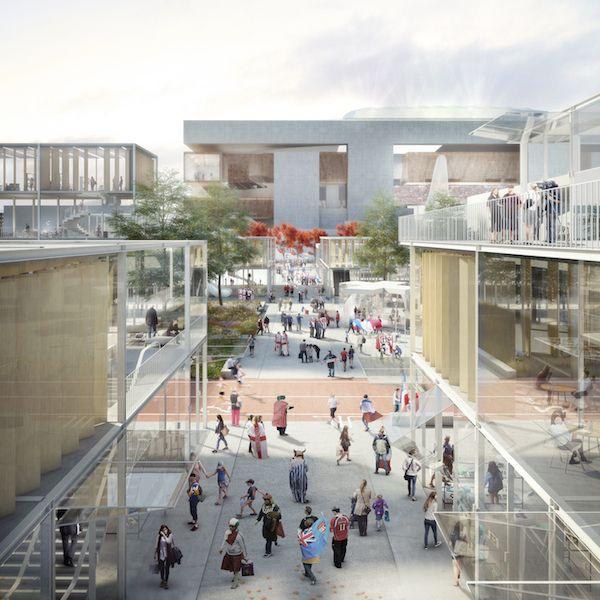 Le projet d'aménagement du quartier autour du futur stade de rugby construit par la Fédération française de rugby à Ris-Orangis (Essonne) d'ici à 2023 a été présenté le 4 décembre 2014 au Simi.