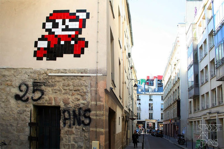 Invader, Beaubourg