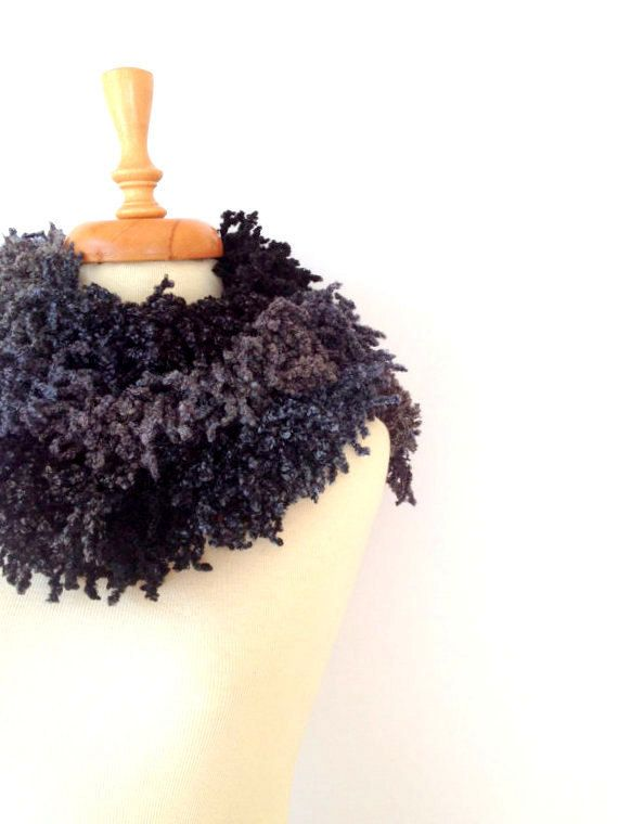 Shadows of Grays Long Chunky Fringed Women Scarf by allapples