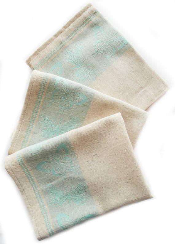 3 Geschirrtücher Küchenhandtücher Handtucher von TextilesHomeDecor