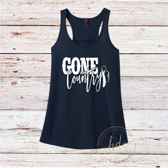 Gone country Tank Country Tank Women's Tank by HangerDesignCenter