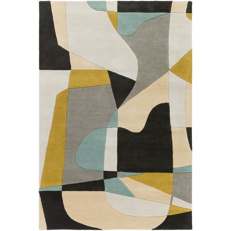 Add a touch of elegance in your home with this beautiful hand tufted rug. Featuring a wool construction, it offers comfort and durability. The rugs striking abstract pattern is sure to add something special to your decor.