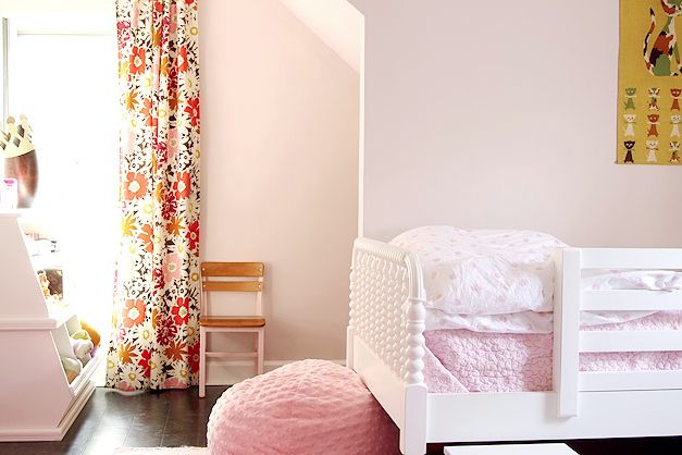 fabric on curtains; Benjamin Moore - Wild Aster Pink (for girl's room)