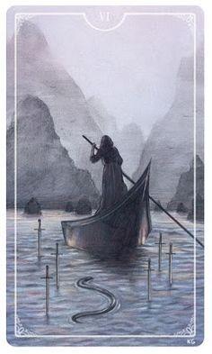 Aquarian Tarot: La Carta de Tarot del día: 6 de Espadas [Adaptarse...
