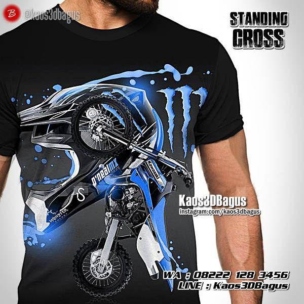 Kaos MOTOCROSS, Kaos TRAIL, Kaos3D, Standing Cross, Kaos Gambar Motocross, Kaos Gambar Motor Trail, Extreme Sport, Enduro Sport, https://instagram.com/kaos3dbagus, WA : 08222 128 3456, LINE : Kaos3DBagus