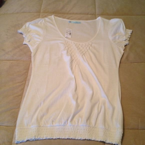 Old navy smocked top Off white color looks cute with cami underneath Tops