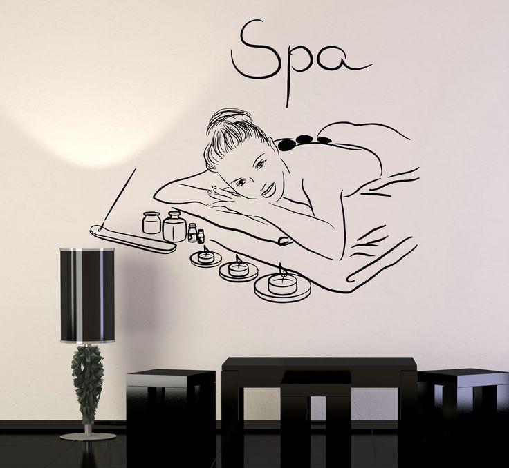 Vinyl Wall Decal Spa Beauty Salon Massage Relax Stickers Mural (213ig)
